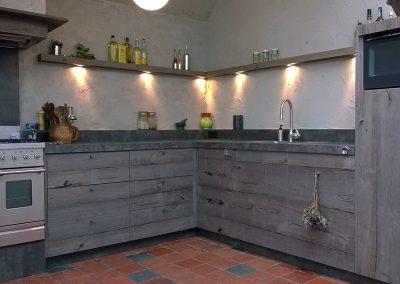 Intia interieurbouw Keuken vergrijsd eiken
