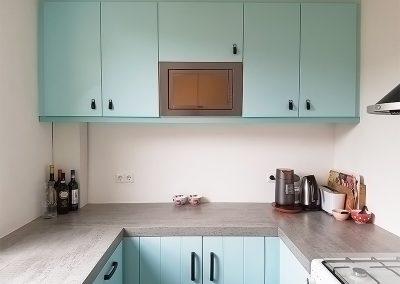 Intia blauw gespoten keuken