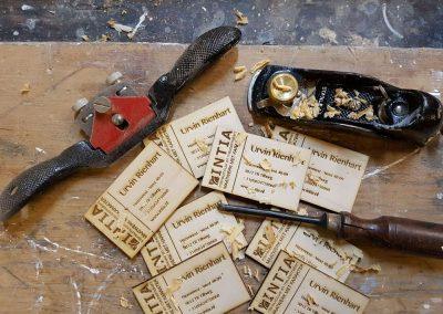 Houten kaartjes Intia maatwerk Laser gesneden houten visite kaartjes